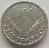 Moneda 1 Franc - FRANTA, anul 1942 *cod 3898 Allu.-xF, Europa, Aluminiu