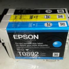SET 3 cartuse originale cu CIP, EPSON - T0891, T0712, T0714 - Cartus imprimanta