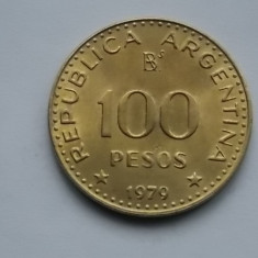100 PESOS 1979 ARGENTINA-AUNC, America Centrala si de Sud