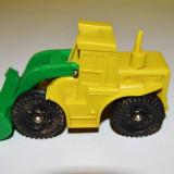 Macheta tractor jucarie vintage Made in West Germany, cauciuc galben - Macheta auto Alta