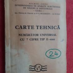 CARTE TEHNICA NUMARATOR UNIVERSAL CU 7 CIFRE TIP E-0202 - Carti Electronica