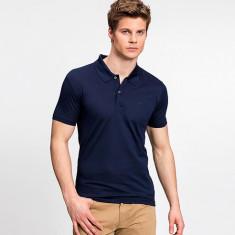 Tricou Lacoste Polo model nou, slim, XS-S - Tricou barbati, Culoare: Bleumarin, Maneca scurta, Bumbac