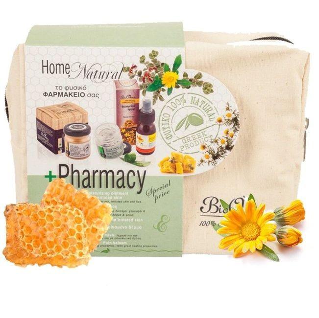 Set Farmacia naturala de acasa - unguent ceara albine, gel aloe vera, ulei sunatoare foto mare