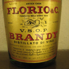 Brandy FLORIO, brandy du sicilia, mai vechi de 3 ani, cc 750 gr 40 ani 70 - Cognac