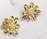 REDUCERE-Cercei CLIPS filled AUR 18k si cristale zirconia swarovski