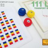KIT-uri (MTR) pentru cusut mărțișoare tricolor (pt 90 buc)