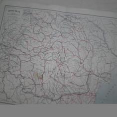 ROMANIA MARE, LOT DOUA HARTI INTERBELICE :CAILE DE COMUNICATII + ROMANIA MINIERA - Harta Romaniei