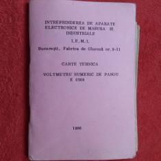 CARTE TEHNICA VOLMETRU NUMERIC DE PANOU E 0308 - Carti Electronica