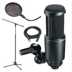 Vand Microfon AT2020 XLR + Mixer+Logitech - Microfon PC