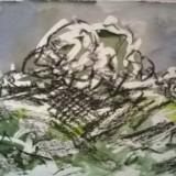 PEISAJ DUNAREAN - Pictor roman, Peisaje, Acuarela, Altul
