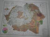 ROMANIA MARE, LOT DOUA HARTI INTERBELICE : HARTA SOLURILOR+ HARTA VEGETATIEI