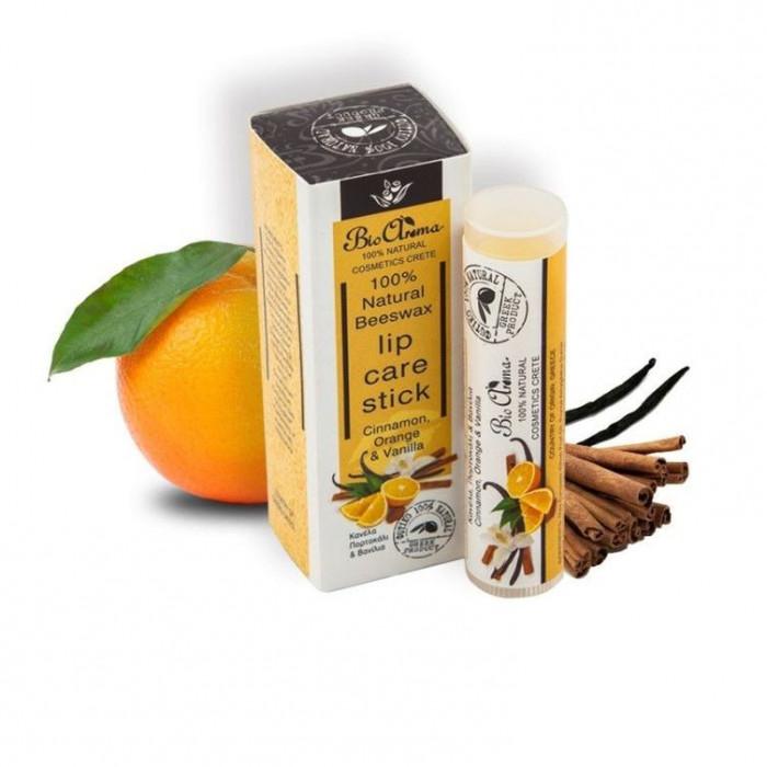 Balsam de buze cu ceara de albine, portocale, vanilie si scortisoara 5 ml foto mare