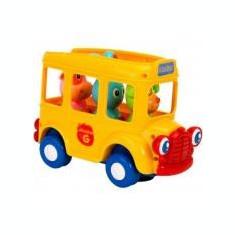 Jucarie bebelusi Vitamina G Autobuz scolar cu figurine Lumini si sunete - Jucarie baie