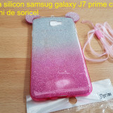Husa silicon samsug galaxy J7 prime cu urechi de soricel - Husa Telefon Samsung, Roz