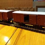 Set doua vagoane transport marfa, marca trix scara ho - Macheta Feroviara Alta, 1:87