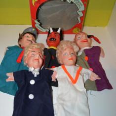Lot 5 marionete, cutia originala, personaje poveste, cap cauciuc, Kaspel Figuren - Jocuri arta si creatie