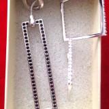 Set bijuterii(colier +cercei) placat cu argint si Swarovski-TRANSPORT 5 LEI - Set bijuterii argint