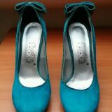 Pantofi piele întoarsă! - Pantof dama