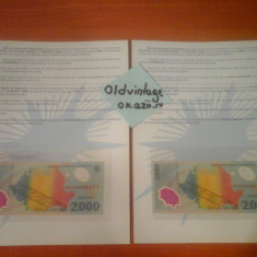 PRET PENTRU REVANZATORI ! Bacnota 2000 lei cu eclipsa de soare din anul 1999 ! - Bancnota romaneasca