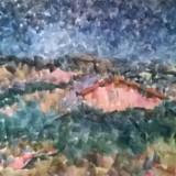 CASA LA  MARGINEA SATULUI, Peisaje, Acuarela, Pointillism