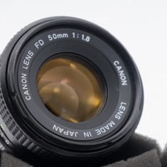 Obiectiv manual Canon FD 50mm 1.8 montura Sony E pentru Sony A7 a6000, a7II etc - Obiectiv DSLR Sony, Standard, Manual focus