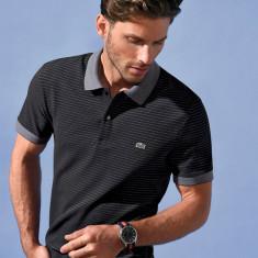 Tricou Lacoste Polo model nou, S - Tricou barbati, Marime: XS/S, Culoare: Negru, Maneca scurta, Bumbac