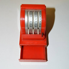 Jucarie casa de marcat Geobra, anii '50, colectie, 8x9x6cm, plastic + metal - Jucarie de colectie