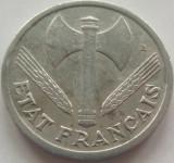 Moneda 1 Franc - FRANTA, anul 1942 *cod 3899 Allu.- xF, Europa, Aluminiu