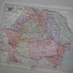 ROMANIA MARE, HARTA PE REGIUNI, CCA 1928 - Harta Romaniei