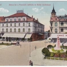 #1978- Ro, Nagyvarad, Oradea c.p. 1917: Pta. Bemer, hotel Pannonia, cafe Emke - Carte Postala Crisana 1904-1918, Circulata, Fotografie