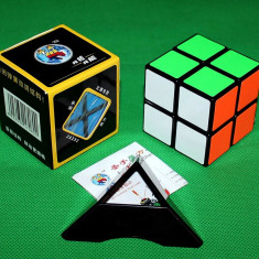 Profesional ShengShou - Cub Rubik 2x2x2 + Stand pt cub Gratuit - Jocuri Logica si inteligenta