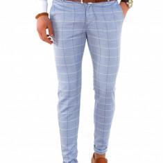 Pantaloni casual carouri - pantaloni barbati - pantaloni office -7838, Marime: 31, 32, Culoare: Din imagine
