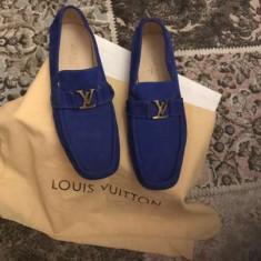 Pantofi Loius Vuitton - Pantof barbat Louis Vuitton, Marime: 42, Culoare: Albastru
