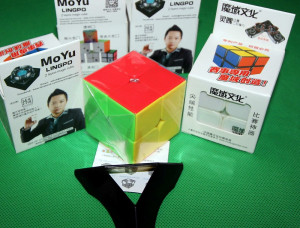 Competitional Moyu LingPo - Cub Rubik 2x2x2 + Stand pt. cub Gratuit
