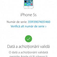 iPhone 5S Apple 16 silver nou nouț, Argintiu, 16GB, Neblocat