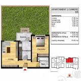 Apartament 2 camere UNIC, cu gradina!Bragadiru/Direct Dezvoltator!!! - Apartament de vanzare, 50 mp, Numar camere: 2, An constructie: 2017, Parter