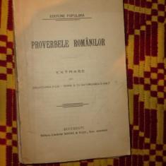 Proverbele romanilor ( editiune populara ) 322pagini - Carte veche