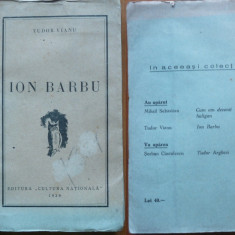 Tudor Vianu , Ion Barbu , Editura Cultura Nationala , 1935