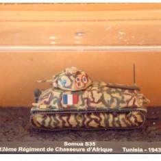 Macheta tanc Somua S35 - Tunisia - 1943 scara 1:72 - Macheta auto