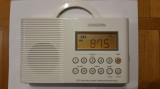 Radio sangean H201 AM/FM/Weather, Digital tuned Waterproof/Shower Radio
