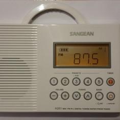 Radio Sangean H201 AM/FM/Weather, Digital tuned Waterproof/Shower Radio - Aparat radio