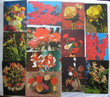 Lot Carti Postale Tematica Flori - 13 bucati
