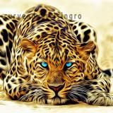 Tablou Canvas Leopard H 80 x 150 cm -animal-tiger-face