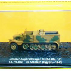 Macheta tanc leichter Zugkraftwagen - El Alamein - 1942 scara 1:72 - Macheta auto