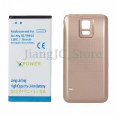 Baterie extinsa 7800 mah + capac auriu  dedicat Samsung Galaxy S5 G900 i9600