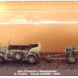 Macheta Horch + Nebelwerfer - Kursk - 1943 scara 1:72 - Macheta auto