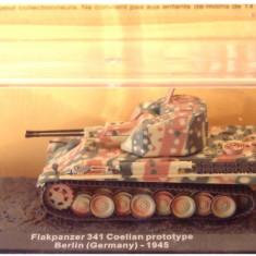 Macheta tanc Flakpanzer 341 Coelian prototype - Berlin - 1945 scara 1:72 - Macheta auto