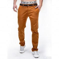 Pantaloni barbati P156 camel SlimFit, model NOU, Marime: S, M, L, Lungi, Bumbac