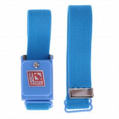 Bratara antistatica ajustabila fara impamantare culoare albastra anti-static - Echipament lucru
