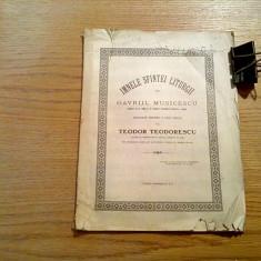 IMNELE SFINTEI LITURGII - Gavriil Musicescu - Cartea Romaneasca, 40 p. - Carti bisericesti